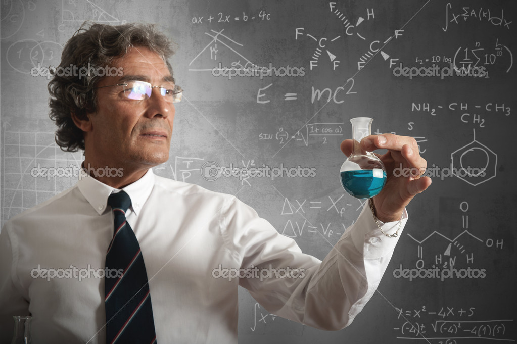 Businessman takes the chemical formula for the success