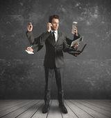 Fotografie multitasking podnikatel