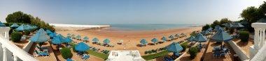The panorama of beach at luxury hotel, Ras Al Khaimah, UAE