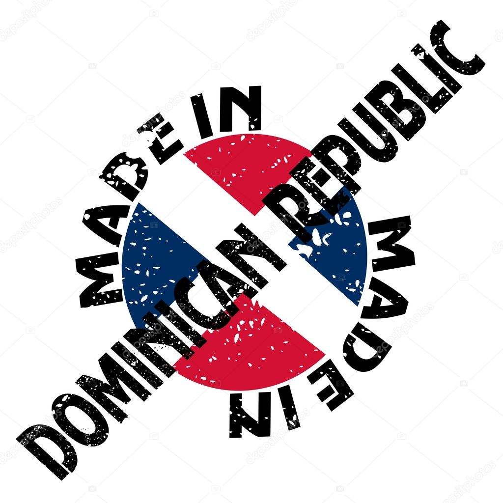vector label made in dominican republic u2014 stock vector perysty