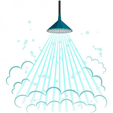 Vector illustration of shower