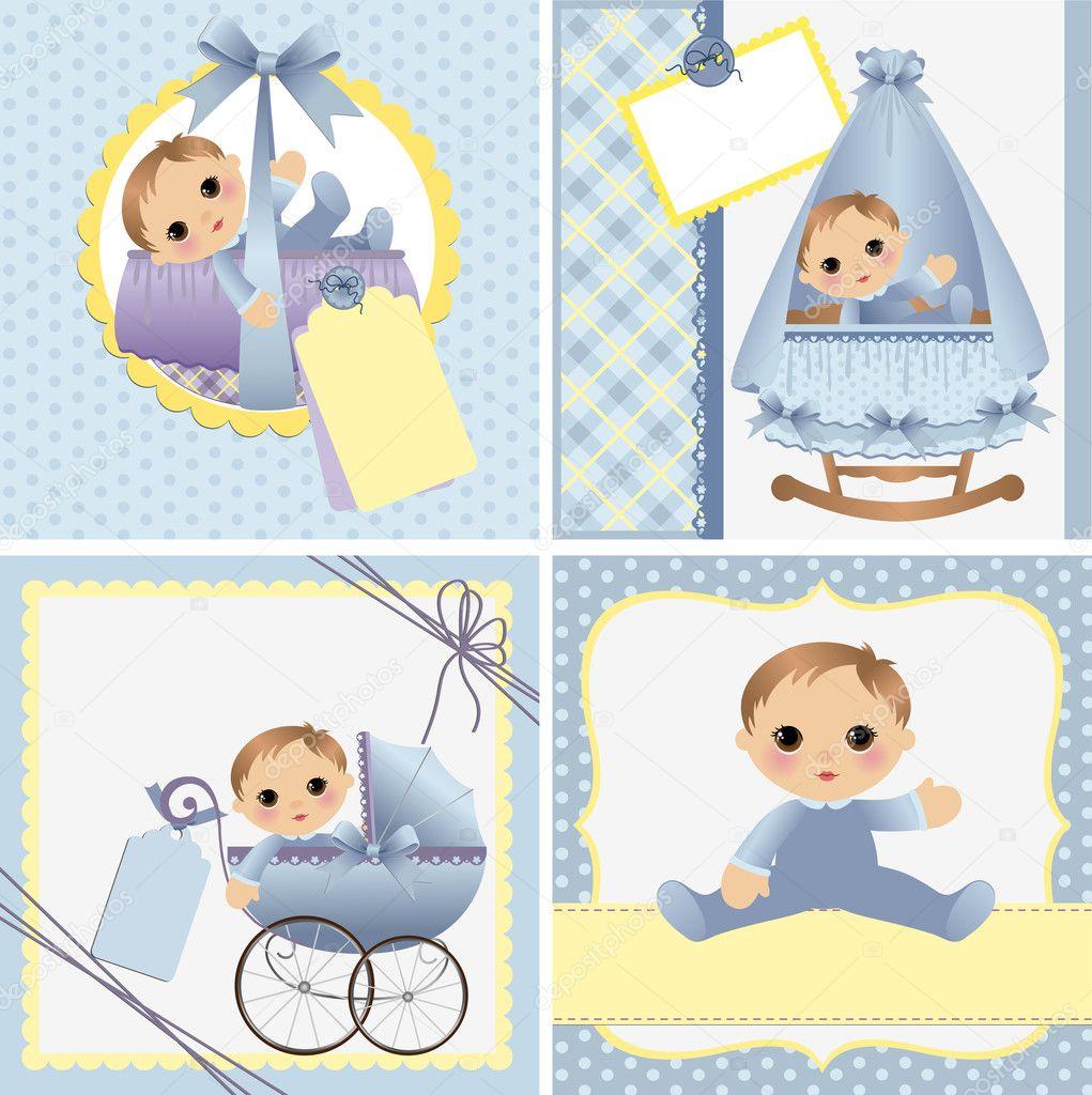 lindas plantillas para tarjetas de bebé — Vector de stock © Embosser ...