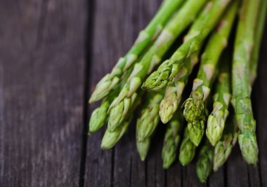 Bunch of fresh green asparagus spears