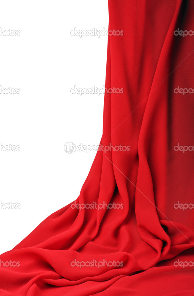 7bd8dc06be6 Red fabric on a white background — Photo by doroshin