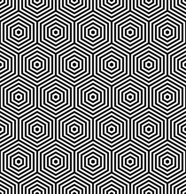 Hexagons seamless texture. Geometric pattern.