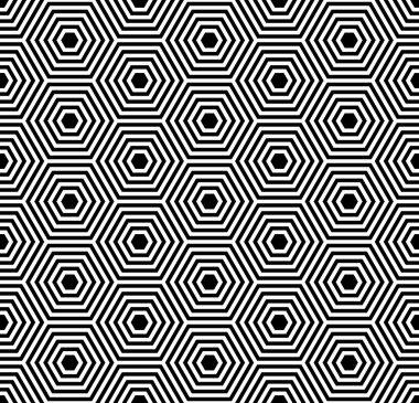Seamless hexagons texture. Geometric pattern.