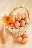 vejce v košíku