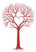 Fotografia albero cuore, sfondo vettoriale