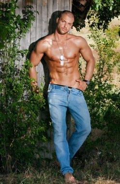 Muscular cute man