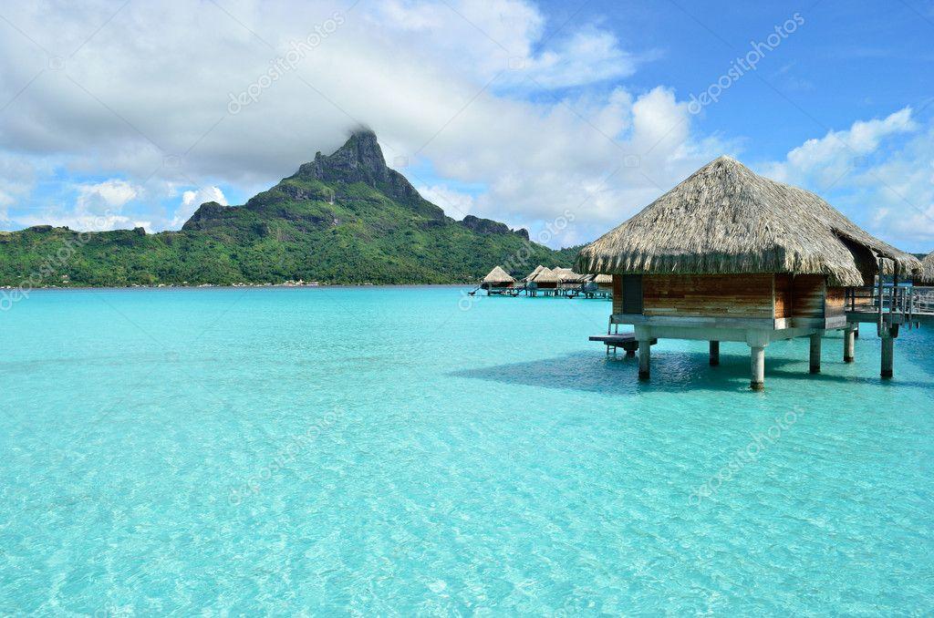 Фотообои Luxury overwater vacation resort on Bora Bora