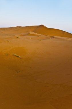 Sun rises over Erg Chebbi at Morocco