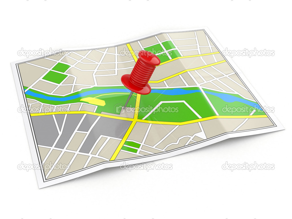 localização mapa localização. mapa e percevejo. conceito de GPS — Fotografias de  localização mapa