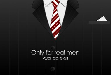 Business suit with a tie. vector bacground