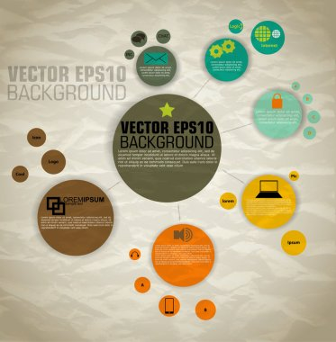 Vector of template for icons and info graphics