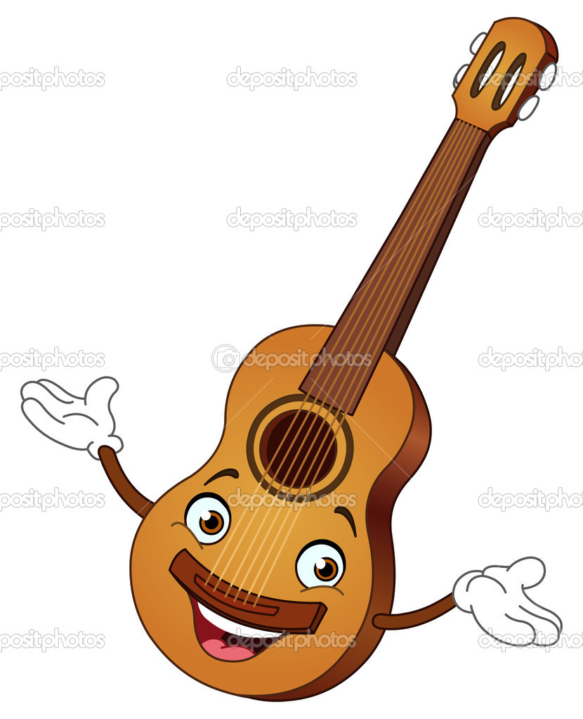 Gitar Karikatür Stok Vektör Yayayoyo 10749669