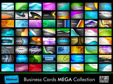 Mega collection of 64 slim professional and designer business ca