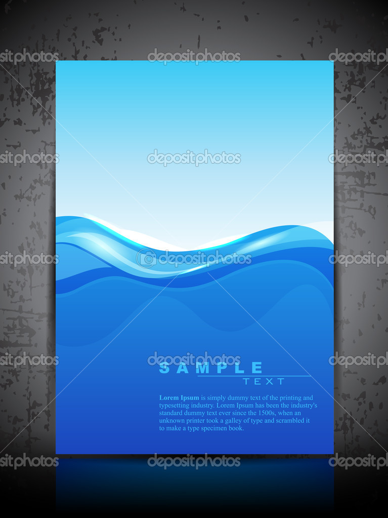 Abstract background water splash and space for your text. can be