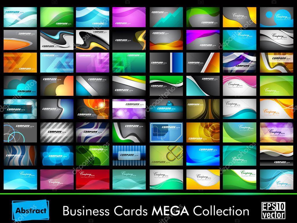 Mega collection of 64 slim professional and designer business ca