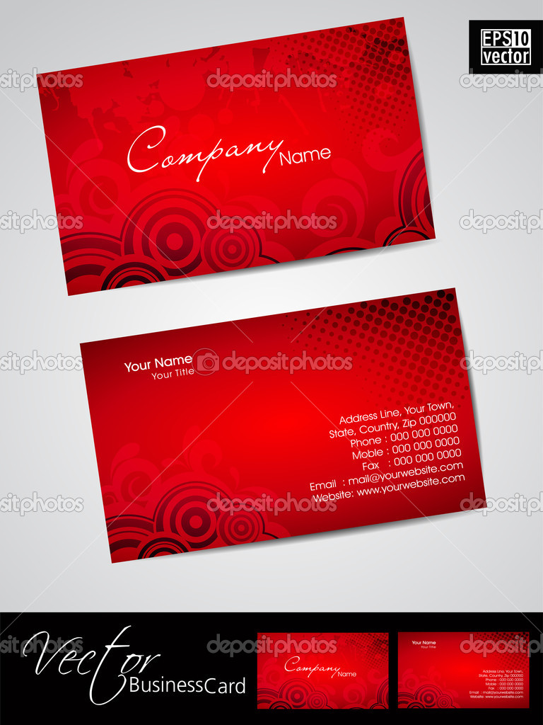 Business cards template or visiting card set and love concept business cards template or visiting card set and love concept abstract eps 10 friedricerecipe Choice Image