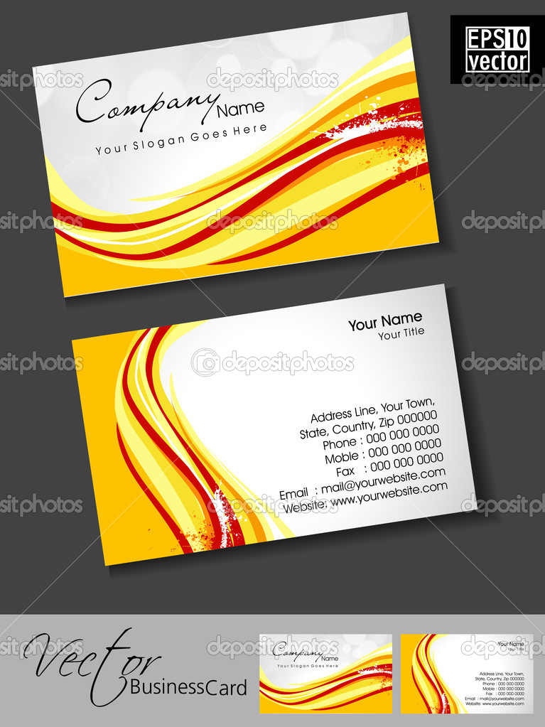 Professional business cards template or visiting card set colorful professional business cards template or visiting card set colorful artistic wave effect with grunge abstract corporate look eps 10 vector illustration accmission Gallery