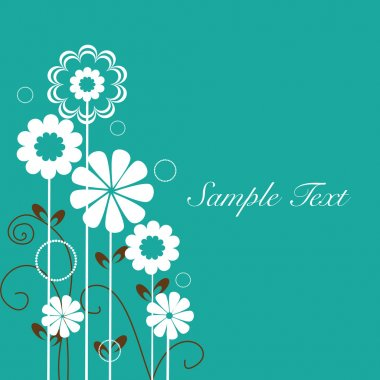 Floral design vector background with text space. EPS 10.