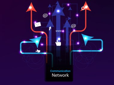 Social media, network connection concept dispaying connecting ar