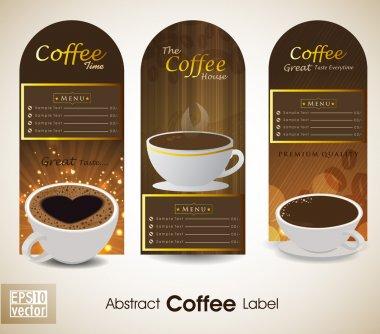 Sets of label design. Menu for restaurant, cafe, bar, coffeehouse. EPS 10.