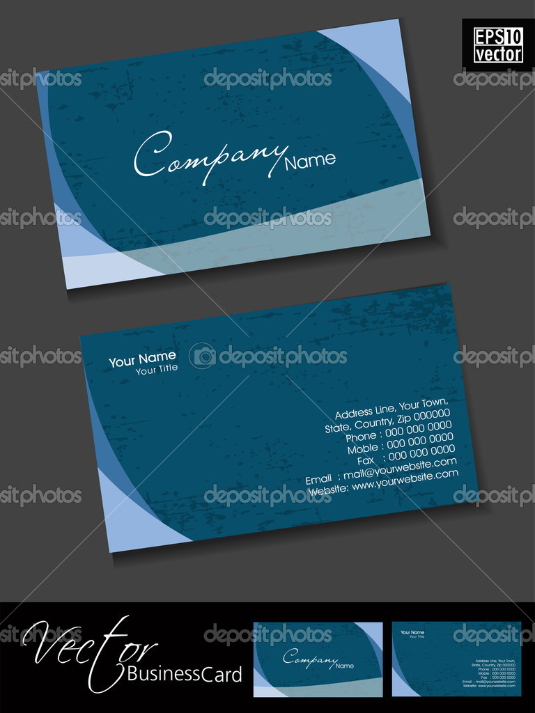 Professional business cards, template or visiting card set. Pink ...
