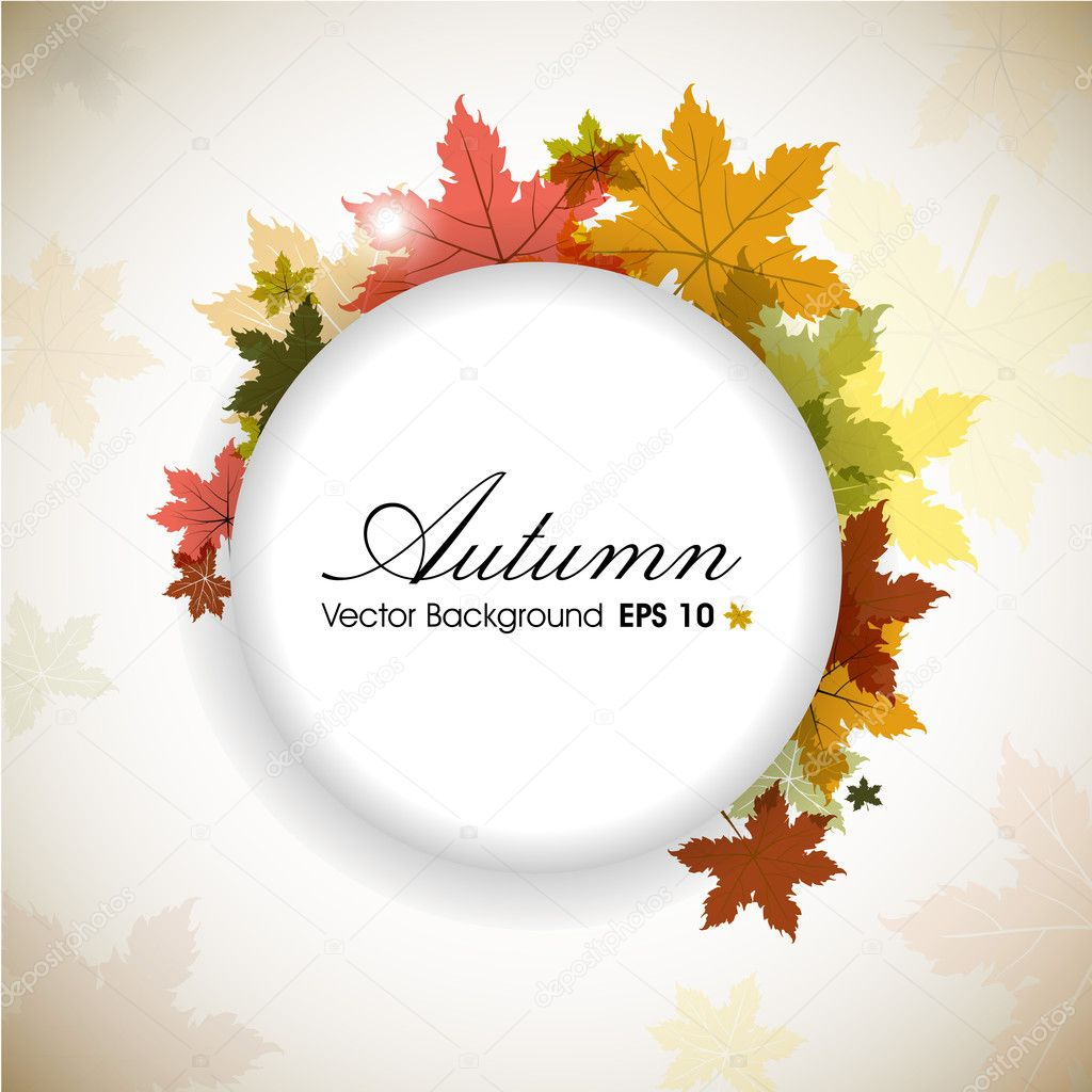 Autumn leaves background with space for your text. EPS 10.