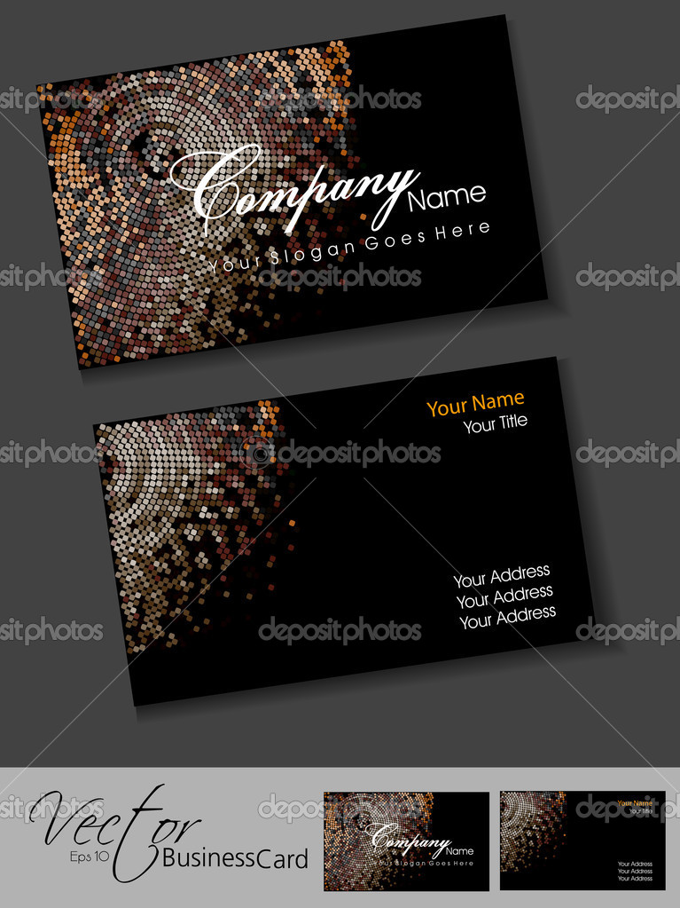 Awesome mosaic editable vector business card template eps 10 des awesome mosaic editable vector business card template eps 10 des stock vector colourmoves Images