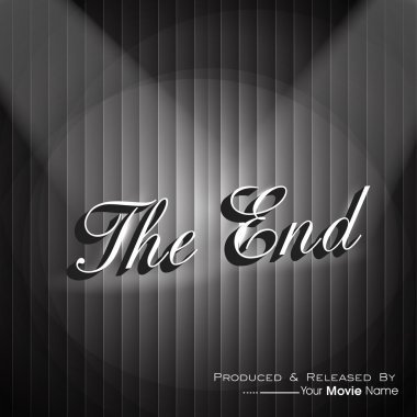 The End. Movie ending screen. EPS 10.