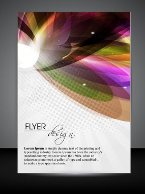 Professional business flyer, brochure or cover design with floral design for publishing, print and presentation. Vector illustration in EPS 10.