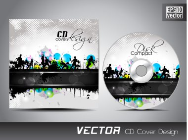 CD cover presentation design template with copy space and music concept, editable EPS10 vector illustration. clip art vector