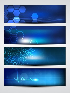 Website banner or header with shiny abstract design. EPS 10. stock vector