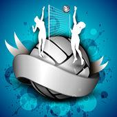 Röplabda lányok játékos játszik röplabda ans sziluettje vo