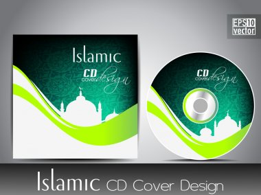 Islamic CD cover design with Mosque or Masjid. EPS 10. Vector il