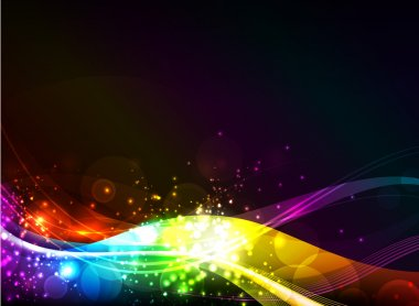 Abstract shiny wave background. EPS 10. ic RGB
