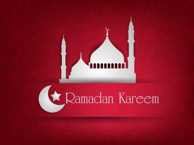 Illustration of Mosque or Masjid with text Ramadan Kareem. EPS 1