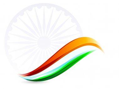 Indian Flag background with Asoka wheel on white background. EPS