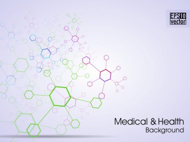 Molecules background. EPS 10.