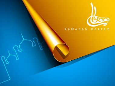 Shiny Ramadan Kareem background. EPS 10