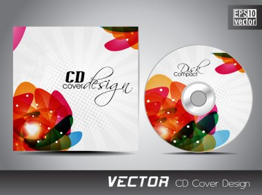 CD cover presentation design template with copy space and abstra