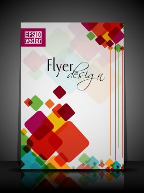 EPS 10 Flyer Design Presentation with colorful abstract and Edit