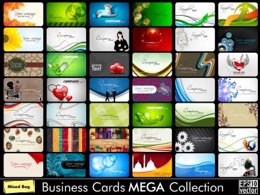 Mega collection of 42 abstract professional and designer busines