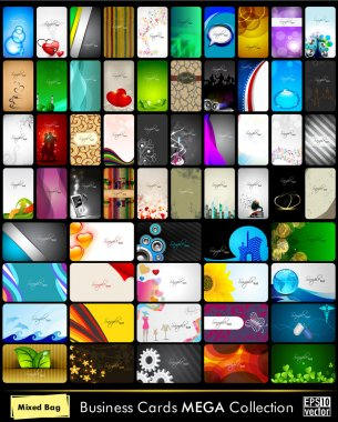 Mega collection of 60 abstract professional and designer busines