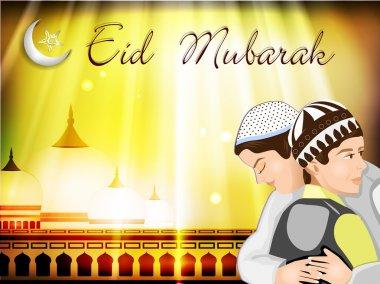 Eid Mubarak background. EPS 10.