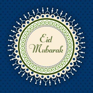 Eid Mubarak greeting card. EPS 10.