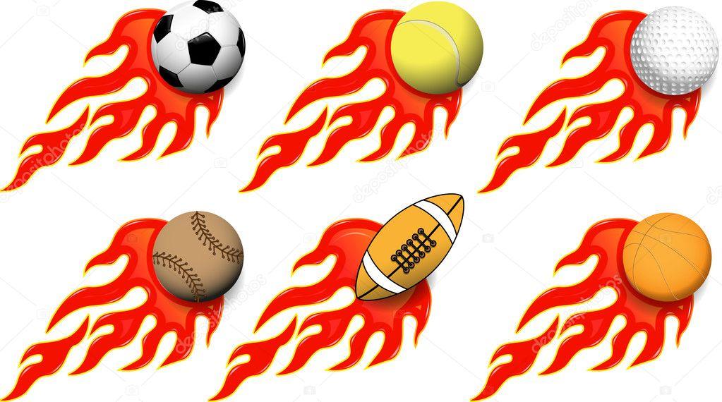 Vector Deportes Bolas Patrón De Fondo: Vector De Stock © Brux17 #11275481