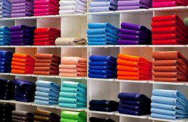 Polo shirts, clothes shop