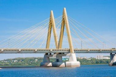 Bridge across the river, city Kazan